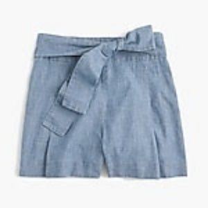 Tie Jean Shorts